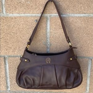 Vintage Etienne Aigner brown leather bag brown